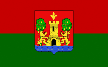 Flag of Bayonne is a city and commune and one of the two sub-prefectures of the department of Pyrenees-Atlantiques, in the Aquitaine region of south-western France