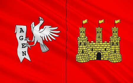 Flag of commune of Agen is the prefecture of the Lot-et-Garonne department in Aquitaine in southwestern France