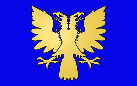 Flag of Alencon is a commune in Normandy, France, capital of the Orne department
