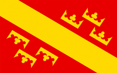 Flag of Haut-Rhin is a department in the Alsace-Champagne-Ardenne-Lorraine region of France, named after the Rhine river