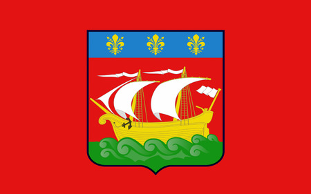 Flag of La Rochelle is a city in southwestern France and a seaport on the Bay of Biscay, a part of the Atlantic Ocean. It is the capital of the Charente-Maritime department.