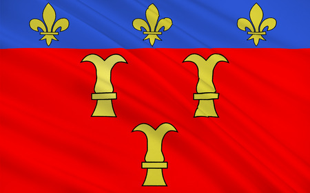 Flag of Tulle is a commune and capital of the Correze departement in the Limousin region in central France