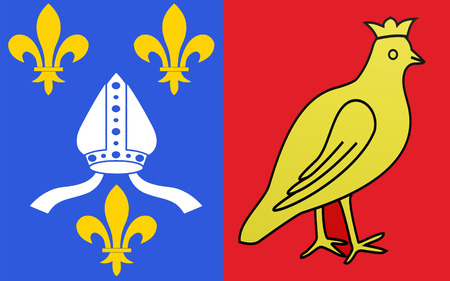 Flag of Charente-Maritime - department in western France, a department of the region of Poitou - Charentes. The administrative center - La Rochelle.