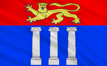 Flag of Coutances is a commune in the Manche department in Normandy in north-western France.