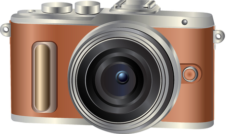 Illustration for Realistic photo camera. Vector illustration - Royalty Free Image