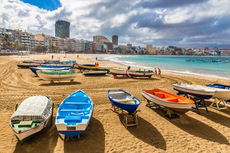 Boats On The Beach - Las Palmas, Gran Canaria, Canary Island, Spain, Europe