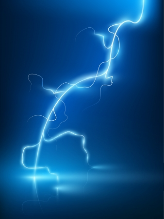Vector Abstract Blue Lightning Flash Background Royalty