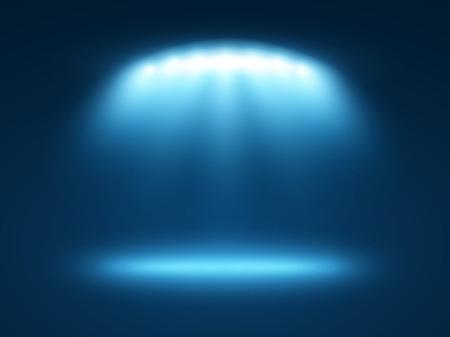 Ilustración de Abstract light effects blue background with a few spotlights - Imagen libre de derechos