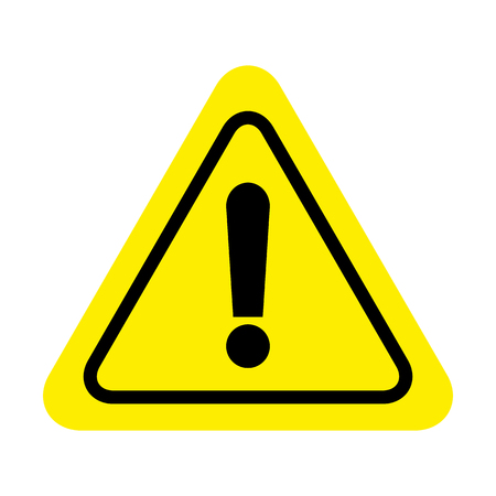 Illustration pour Exclamation danger sign. attention sign icon. Hazard warning attention sign - image libre de droit