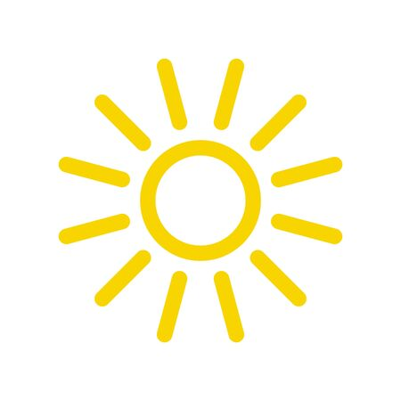 Illustration for Sun icon. Sun vector icon - Royalty Free Image