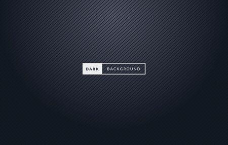 Illustration for Vector Illustration Dark Black Premium Background With Stripes. - Royalty Free Image
