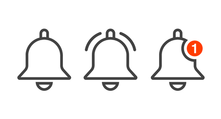 Notification icon vector, material design, Social Media element, User Interface sign.