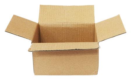 Foto für Open cardboard box used isolated on white background - Lizenzfreies Bild