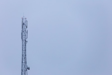 Antenna for mobile communication on sky background