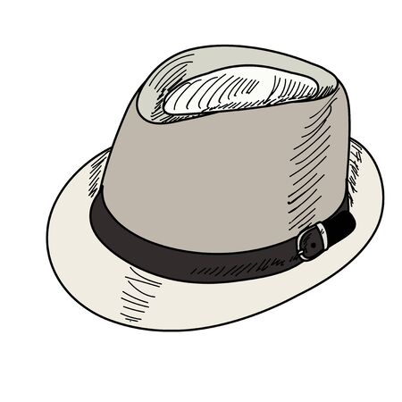Illustration for men's hat on white background - Royalty Free Image