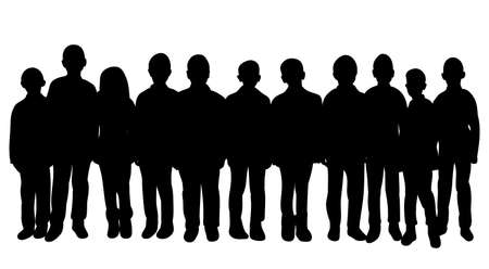 Illustration for silhouette of a crowd of people, collection - Royalty Free Image