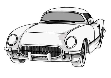 Illustration pour sports retro car vector - image libre de droit