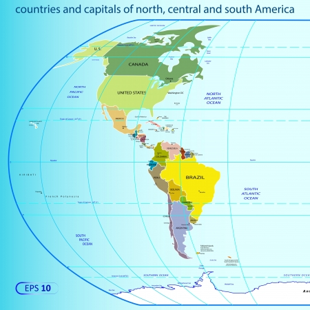 north, central and south America.