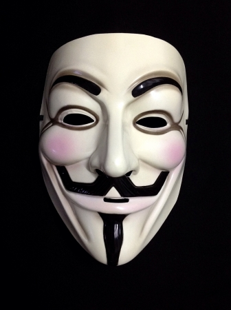 Front profile of Guy Fawkes mask