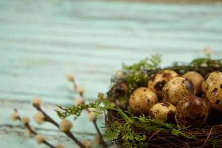 Quail eggs Easter