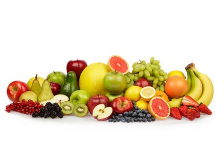Foto für multi colored ripe fruit vegetable composition isolated on white - Lizenzfreies Bild