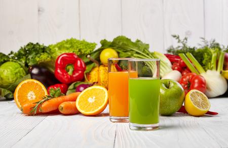 Various Freshly Vegetable Juices for Detox