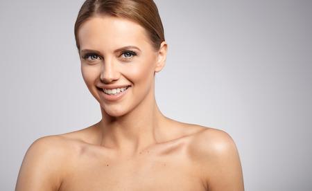 Beautiful Woman with Perfect Fresh Skin.