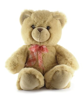 Teddy bear isolated over a white background