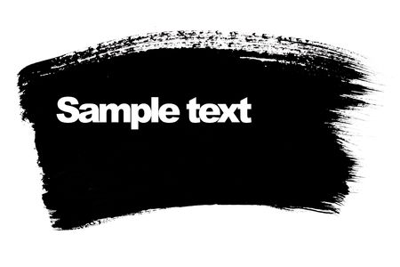Black brush stroke with space for your own text