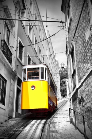 Funicular (Elevador do Lavra) in Lisbon, Portugal