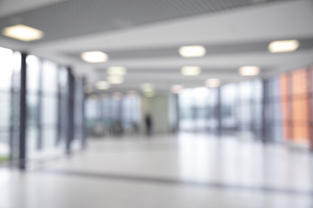 Photo for Corridor in airport out of focus - Royalty Free Image