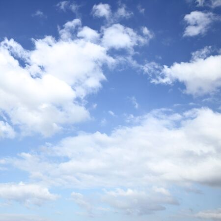 Photo pour Only the blue sky with white clouds, may be used as background. Square cropping - image libre de droit