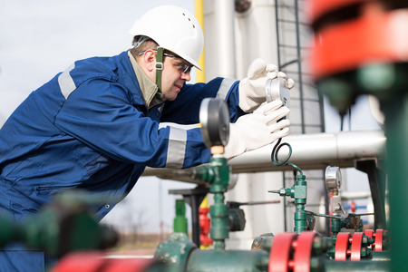 Photo for Gas Production Operator - Royalty Free Image