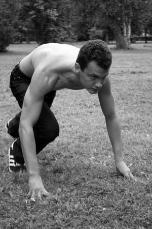 Photo pour Running man  - image libre de droit