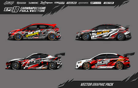 Illustration for Car wrap vector pack - Royalty Free Image