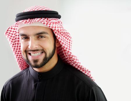 Photo pour Modern arabic businessman,showing clean and healthy teath  - image libre de droit