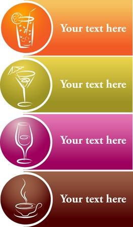 beverage icons . menu template