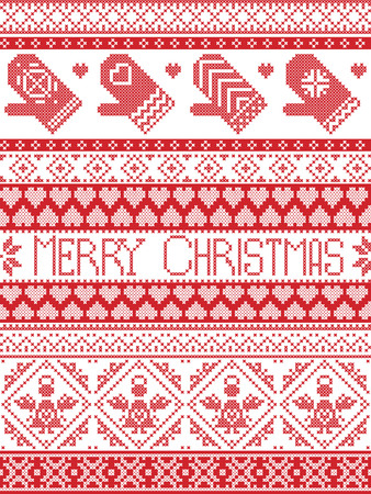 Merry Christmas In Norwegian.Merry Christmas Tall Scandinavian Printed Textile Style And