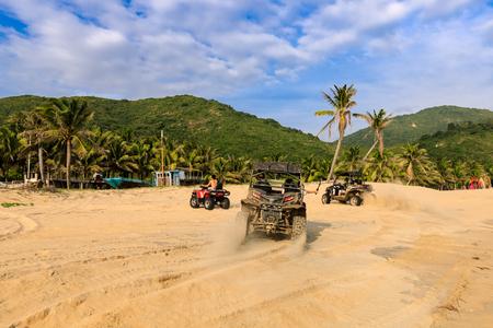 China's Hainan Nanwan Monkey Island Colorful Beach ATV