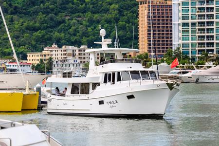 China Sanya Yachts on Sea