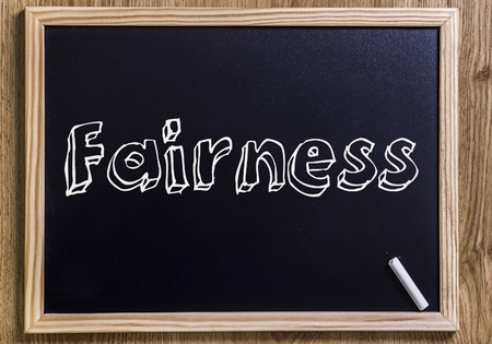 Fairness - New chalkboard with outlined text - on wood