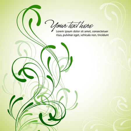 Vektor für Clean Floral Background - Lizenzfreies Bild