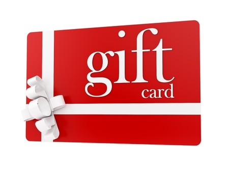 render of a gift card, isolated on white