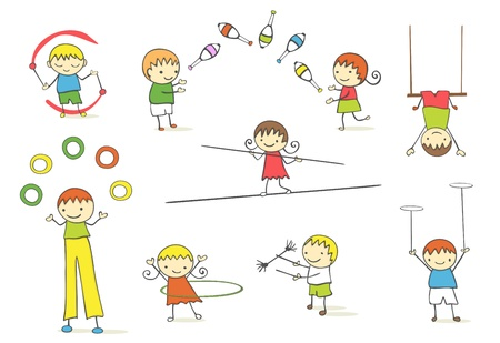 Juggling kids collection.