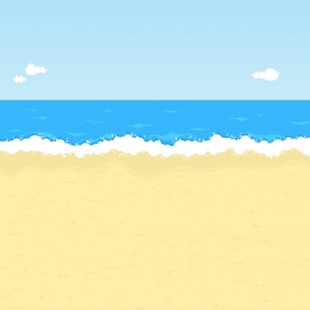 Illustration pour Seaside illustration with space for your message. - image libre de droit