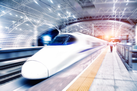 View of a bullet train