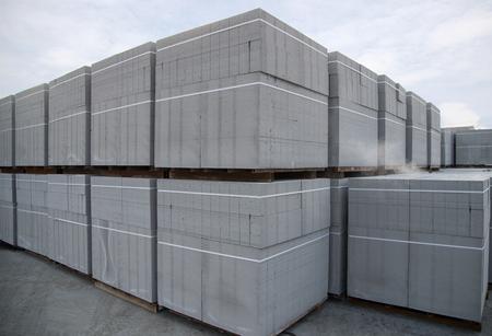Foto de aerated concrete block - Imagen libre de derechos