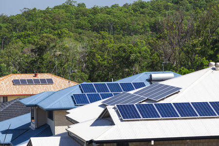 Solar panels on multiple energy efficient homes