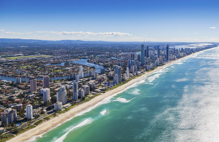 Aerial view of Surfers Paradise on the beautiful Gold Coast, Australia