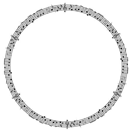 Round notes frame